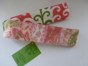 mellow pink and green paisley flips to pink, green and white beanstalks